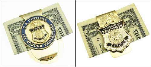 Customs and Border Protection Mini Badge Challenge Coin Money Clip