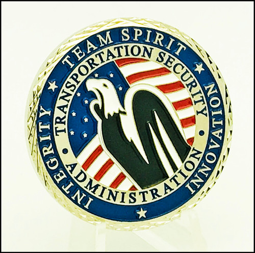 Transportation Security Administration Team Spirit Challenge Coin back side