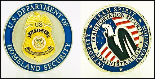 Transportation Security Administration Team Spirit Challenge Coin both sides