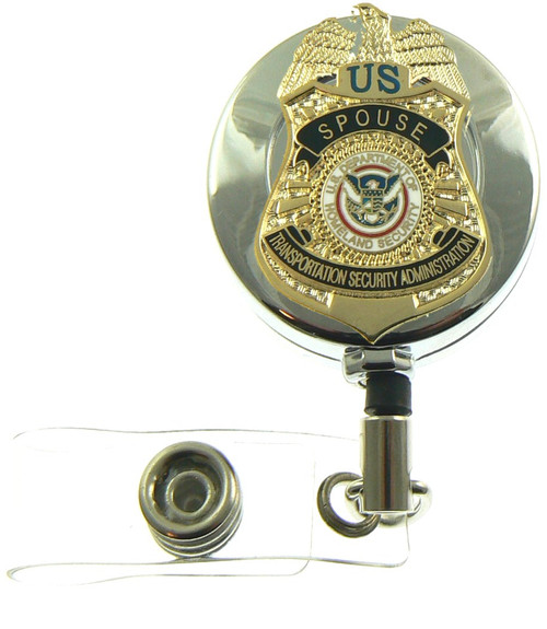 Transporation and Security Administration Team Spouse Mini Badge Retractable ID Badge Holder