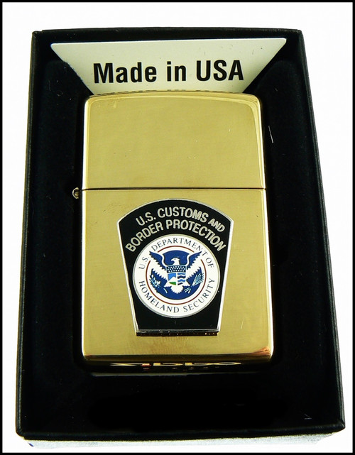 Customs and Border Protection Mini Patch Brass Lighter