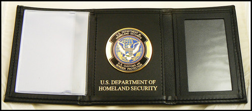 Customs and Border Protection Tri-Fold / OFO Medallion and Department of Homeland Security Embossing
