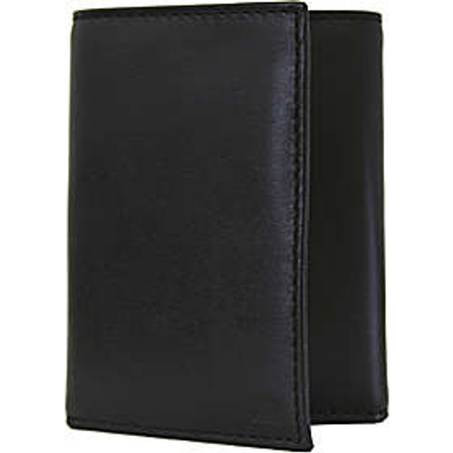 Immigration and Customs Enforcement Tri-Fold Leather Wallet - Closed