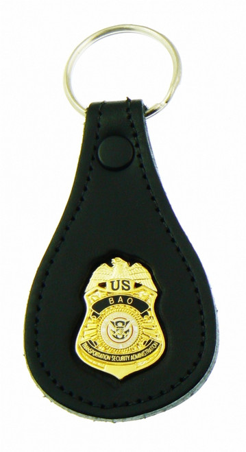 Transporation and Security Administration BAO Mini Badge Leather Key Ring