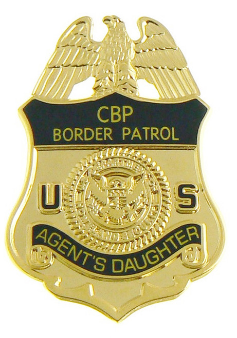 U.S. Border Patrol Agent's Daughter Mini Badge Lapel Pin