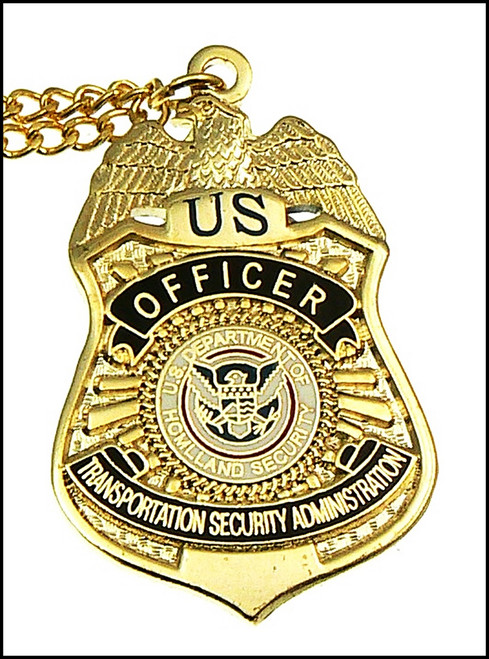 Transportation Security Administration Officer Mini Badge Charm Necklace