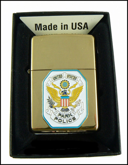 Brass Lighter with Park Police Patch
