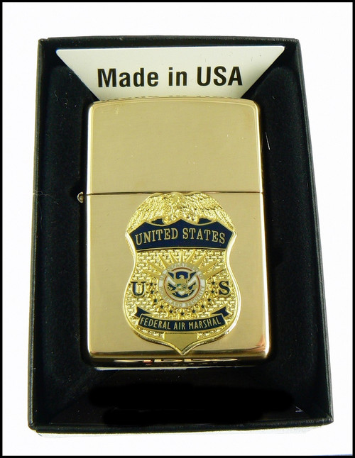 Federal Air Marshal Brass Cigarette Lighter