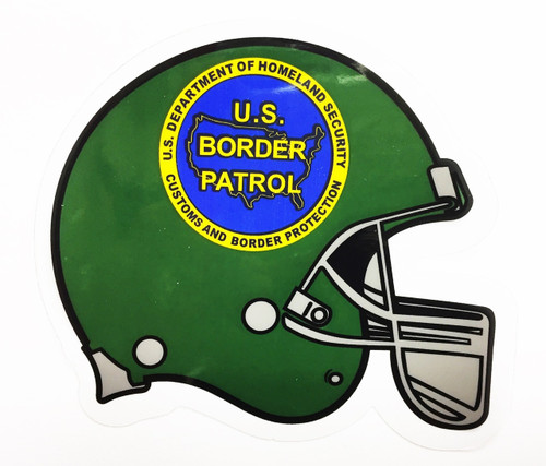 US Border Patrol Mini Football Helmet Decal