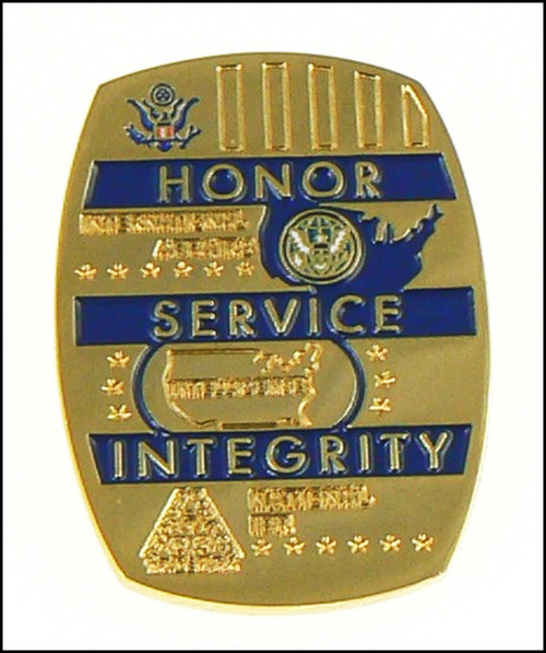ICE Homeland Security Investigations Special Agent Challenge Coin -Back