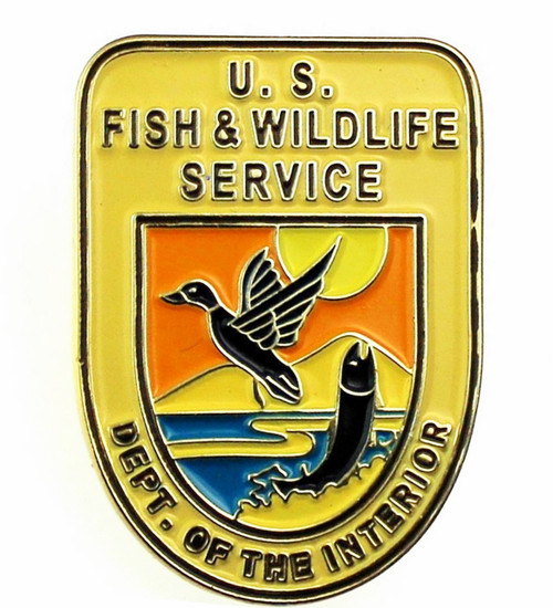 Fish and Wildlife Service Mini Patch Lapel Pin