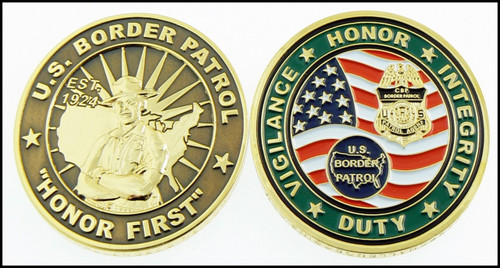 U.S. Border Patrol Honor First Challenge Coin