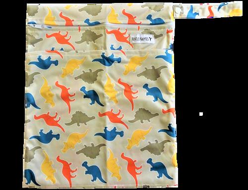 Revilo's Double Pocket Dinosaurs Wet bag