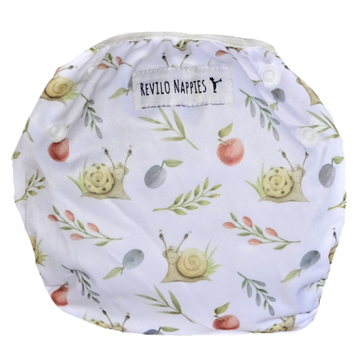 "Revilo's Reusable Swim Nappy ""Garden Snails"""