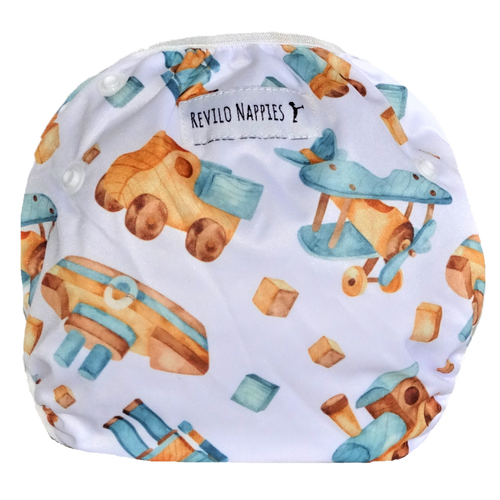 "Revilo's Reusable Swim Nappy ""Wooden Toys"""