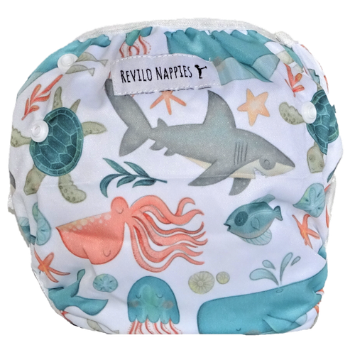 "Revilo's Reusable Swim Nappy ""Under the sea"""