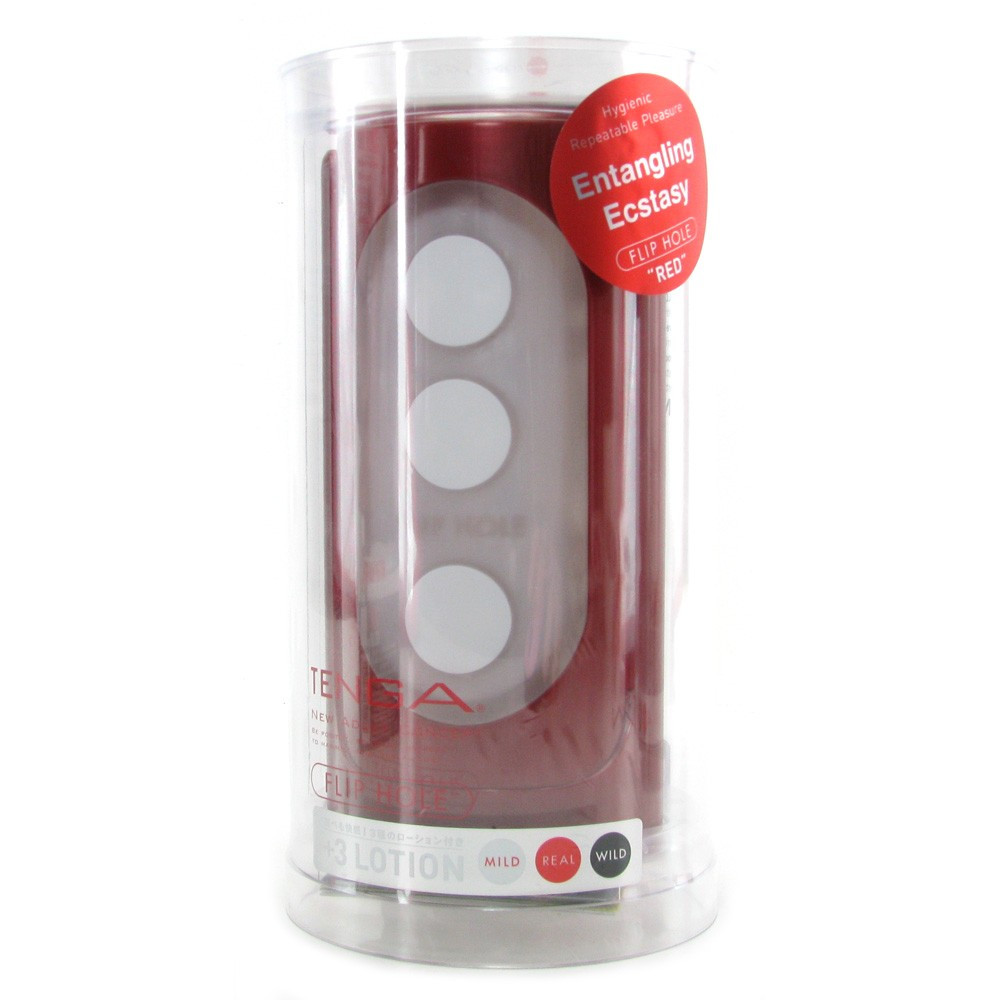Tenga Flip Hole Red Packaging
