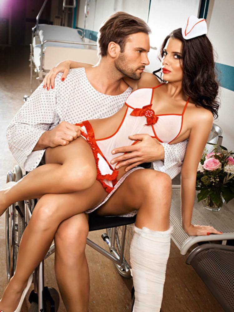 White nurses' negligee