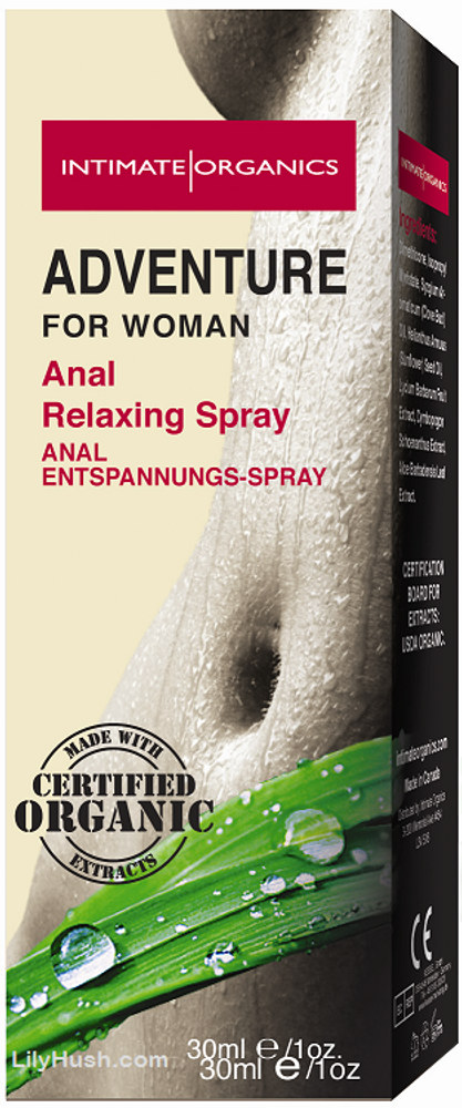 Intimate Organics Adventure Anal Relaxing Spray 30ml