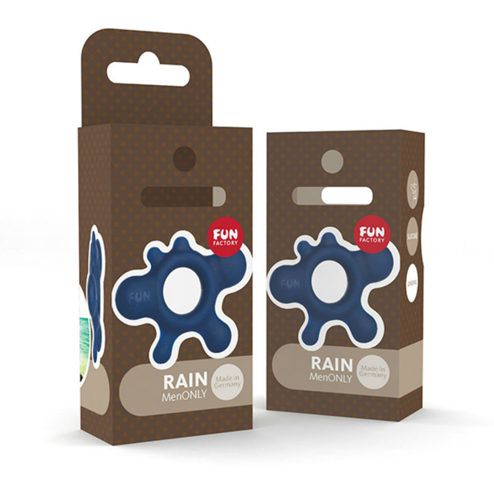 Fun Factory Rain Silicone Cock Ring (Blue)
