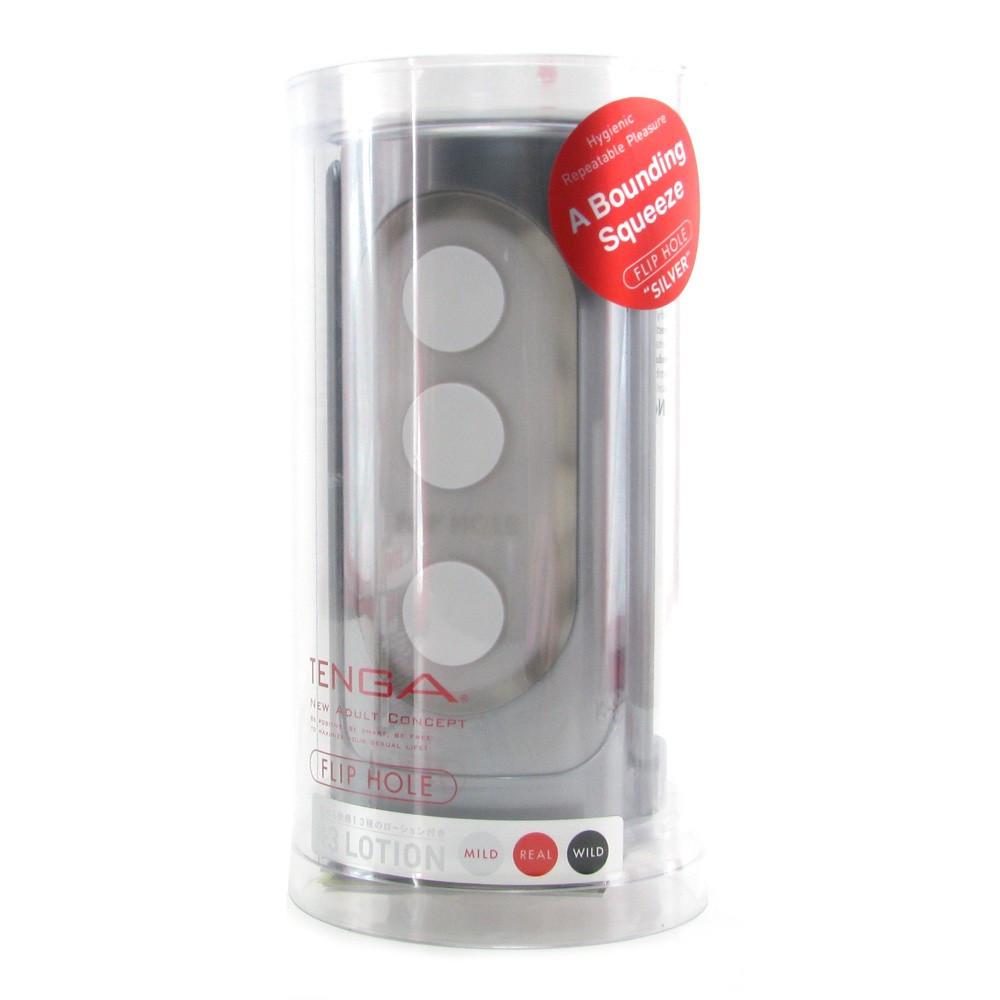 Tenga Flip Hole Silver Packaging