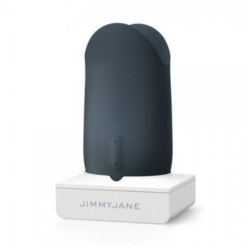 Jimmyjane Form 5 Luxury Rechargeable Couples Vibrator (Slate)