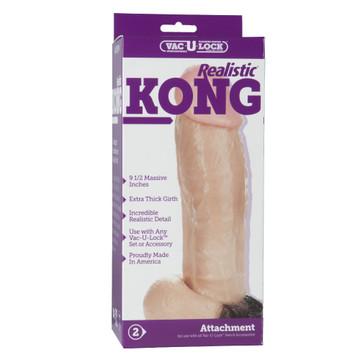 "Doc Johnson Vac-U-Lock 9.5"" Realistic Kong Dildo"