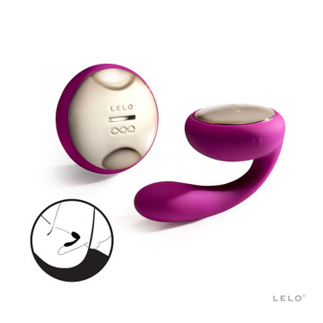 Lelo Ida Couples Vibrator (Deep Rose)