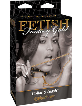 Pipedream Fetish Fantasy Gold Collar & Leash