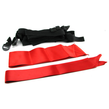 Door play kit with silky ties and blindfold