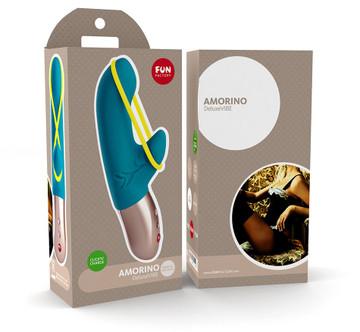 Fun Factory Amorino Rechargeable Rabbit Vibrator (Blue)