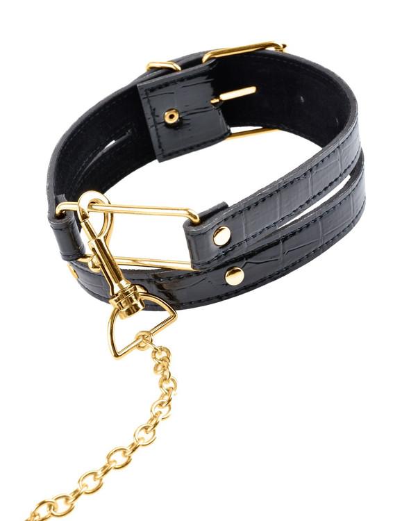 Pipedream Fetish Fantasy Gold Collar & Leash