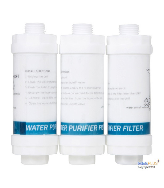 Bidet Carbon Water Filters 3 Pack , Bidet Seat Carbon Water Filters 3 Pack , Bidet Toilet Seat Carbon Water Filters 3 Pack