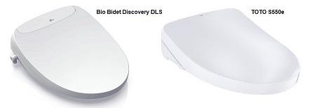 Bio Bidet Discovery DLS vs TOTO S550e