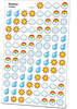 Weather Stickers from All About Reading Level 4