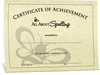 All About Spelling Completion Certificate