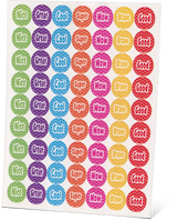 """All About Spelling Level 6 """"Happy Words"""" Stickers"""