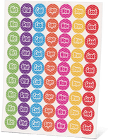AAS Level 6 Happy Words Stickers