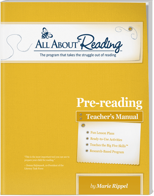 All About Reading Pre-reading Teacher's Manual