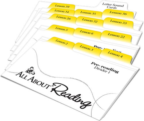 All About Reading Pre-reading Divider Cards
