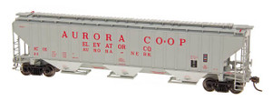 Intermountain 45356-03 Aurora Co-op #14 4750 CF Rib-Sided 3-bay Hopper HO