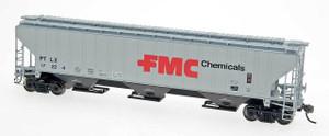 Intermountain 45377-11 FMC Chemicals #17231 4750 CF Rib-Sided 3-bay Hopper NEW Date 6-75 HO