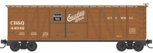 Micro-Trains 040 00 030 CB&Q Burlington 40' Outside Braced Box Car #44942 N scale