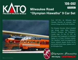 KATO N scale 106-082 Milwaukee Road Olympian Hiawatha 9-car passenger set MAP price
