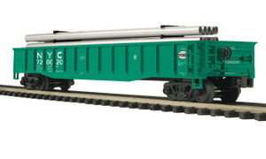 MTH O scale 20-98901 New York Central Gondola Car w/ Pipe Load #720024