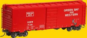 Kadee 4126 Green Bay & Western PS-1 40' Box Car #738 HO