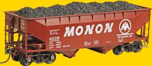 Kadee 7056 MONON 50-Ton Offset 2-Bay Hopper #4038 HO