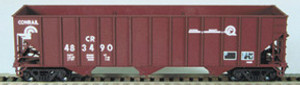 "Bowser 25107 Conrail ""Quality"" 100 Ton 3-bay Hopper #488432 RTR HO scale"