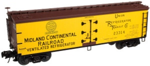 Atlas O 3001515-2 Midland Continental RR 40' Wood Reefer #23314 3-rail
