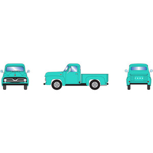 Athearn RTR 26444 Ford 1955 F-100 Pickup Jade HO scale